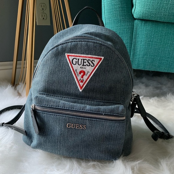 Guess Bags   Denim Backpack   Poshmark e2f07b7f49